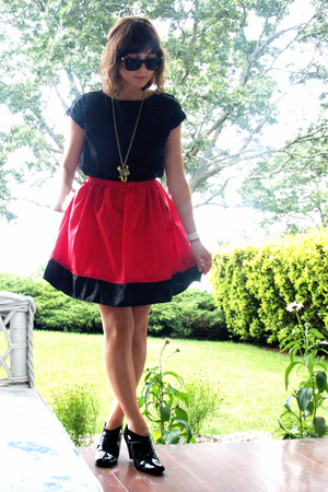 self-made top - self-made skirt - Ray Ban sunglasses - payless shoes