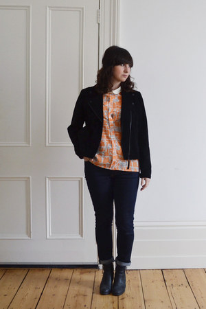 suede Monki jacket - Sacha boots - acne jeans - asoscom shirt