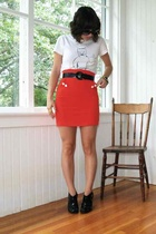 Luella t-shirt - H&M skirt - payless shoes - Chanel sunglasses