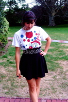 Marc Jacobs t-shirt - Zara belt - American Apparel skirt