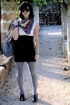 American Apparel dress - scarf - Zara shoes