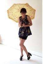 H&M blouse - H&M skirt - acne shoes