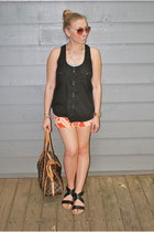 abercrombie and fitch shorts - Target top - franco sarto sandals