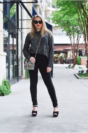 black sam edelman shoes - green loeffler randall bag - black DBlanc sunglasses