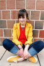 Orange-vest-gold-gap-jacket-blue-gap-jeans-gold-keds-shoes-gold-gap-belt