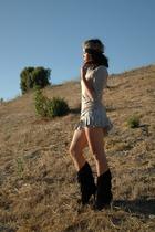 handmade accessories - Imitation shirt - vintage skirt - Urban Outfitters neckla