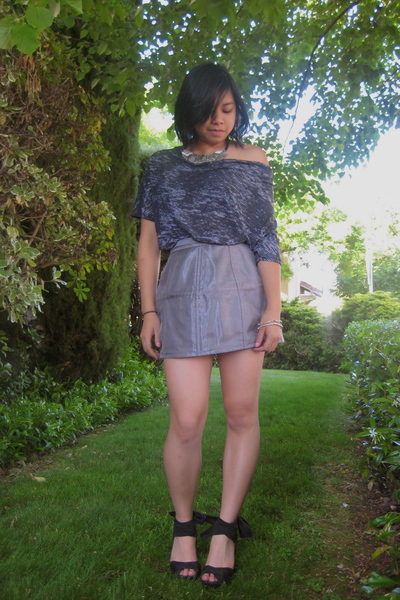 Urban Outfitters shirt - Topshop skirt - Urban Outfitters necklace - Marc by Mar