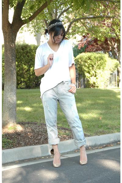 silver handmade bracelet - beige Christian Louboutin shoes