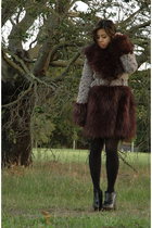 black Where the Wild Things Are x Opening Ceremony coat - black Topshop tights -