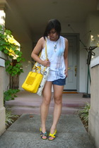 handmade shirt - Trovata shorts - Prada purse - handmade necklace - balenciaga s