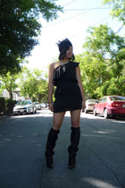 vintage dress - vintage necklace - handmade necklace - balenciaga boots - handma