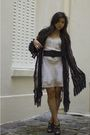 Black-if-six-was-nine-cardigan-beige-vintage-dress-black-barneys-shoes-sil