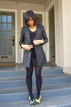 Alexander Wang blazer - Topshop top - HUE tights - balenciaga shoes - vintage ne