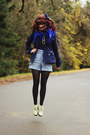 Navy-dress-eggshell-boots-navy-peacoat-jacket-black-geometric-tights