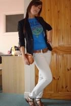 Junk Food t-shirt - River Island blazer - River Island jeans - vintage accessori