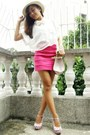 Hot-pink-bandage-skirt