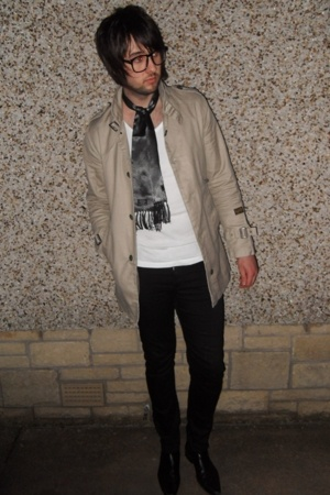 Gstar coat - Topman vest - Cheap Monday jeans - vintage boots - Tootal scarf