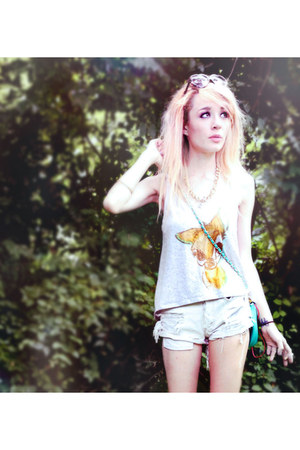 bambi print Disney top - Urban Outfitters shorts
