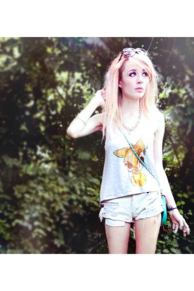 bambi print Disney top - Urban Outfitters shorts