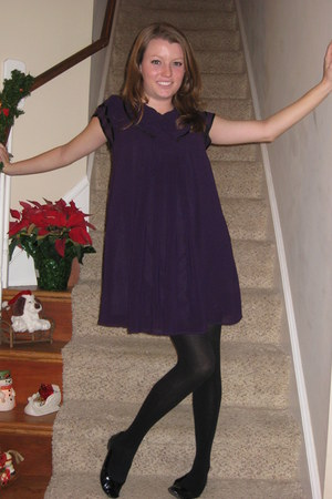 deep purple Forever21 dress - black Target tights - black patent rackroomshoes f