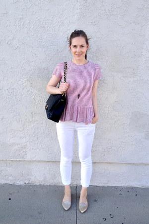 Chanel bag - Quiksilver jeans - Joie flats - Zara top