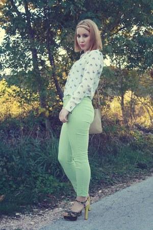 Zara blouse - Zara sandals - Topshop pants