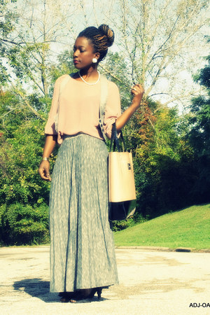 heather gray Premise skirt - dark gray JCP shoes - neutral cynthia rowley bag