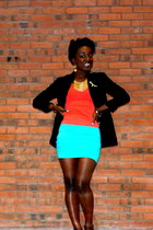 Forever 21 top - Tabolts blazer - Steve Madden bag - unknown brand skirt
