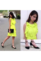 black tory burch bag - yellow Prabal Gurung for Target dress