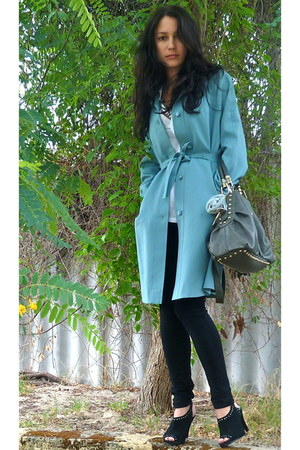 vintage jacket - cotton on shirt - Honey and Beau tights - bag - Big W necklace