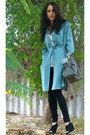 Vintage-jacket-cotton-on-shirt-honey-and-beau-tights-bag-big-w-necklace-