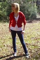 Marni of New York sweater - delias jeans - Gap shirt - Converse shoes - salvatio