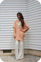 beige Falls dress - white 31 phillip lim pants - white Anthropologie necklace