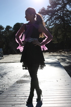purple Rodarte for Target top - black H&M vest - black 213 skirt - black Victori