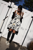 white Twinkle By Wenlan dress - black milly coat - black H&M socks - white H&M s