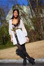 White-millau-cardigan-black-general-pants-dress-black-charlotte-ronson-shoes