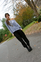 American Apparel top - Chanel necklace - The Limited pants - Charlotte Ronson sh