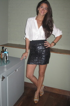 Zara blouse - Zara skirt - Christian Louboutin shoes