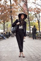 black Jessica Simpson hat - heather gray Marni shoes