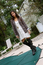 Duke and Duchess blazer - Bensoni dress - Jeffrey Campbell for LF Stores boots -