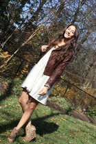Forever 21 jacket - Bensoni dress - jeffrey campbell for LF shoes