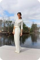 white 31 phillip lim pants - white Zara shoes - beige Zara top
