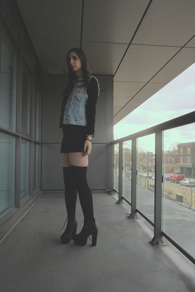 platform bootie MTNG Shoes heels - Michael Stars dress - brandy melville vest