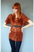 orange Leather Lace And Velvet Vintage dress - blue J Brand jeans