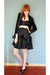 black Leather Lace And Velvet Vintage skirt - black proenza schouler for target
