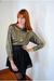 gold Leather Lace And Velvet Vintage top - black H&M skirt - black American Appa