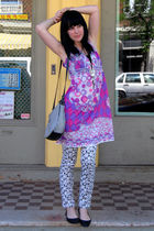 Vintage Pucci dress - H&M pants - vintage bag - Urban Outfitters shoes