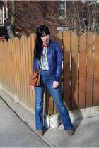 Forever 21 boots - Vintage Levis jeans - Forever 21 jacket - vintage Coach bag -