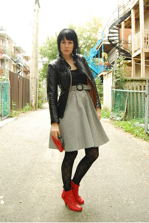 BC boots - vintage dress - vintage jacket - vintage bag