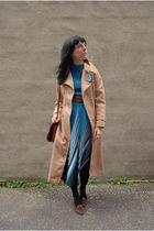 vintage metallic knit dress dress - vintage leather loafers shoes